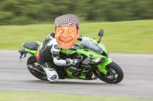 Del Boy riding a motorcycle